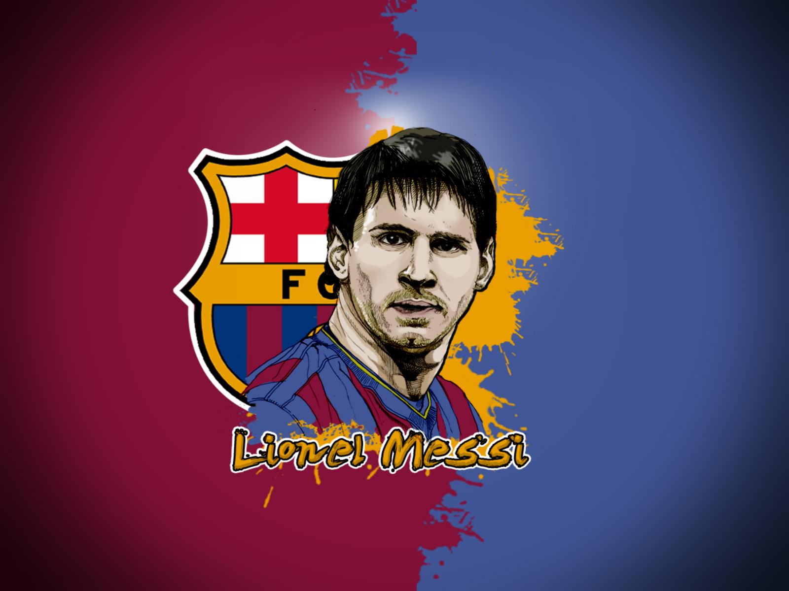 Messi Illustration HD Desktop Wallpapers Download Wallpapers 1600x1200