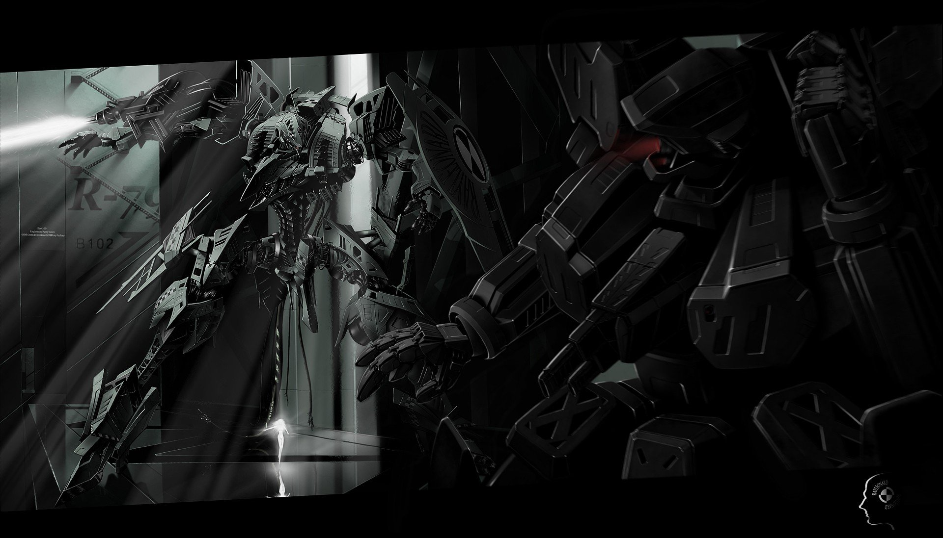 46 anime mecha wallpaper on wallpapersafari - Dark anime background ...