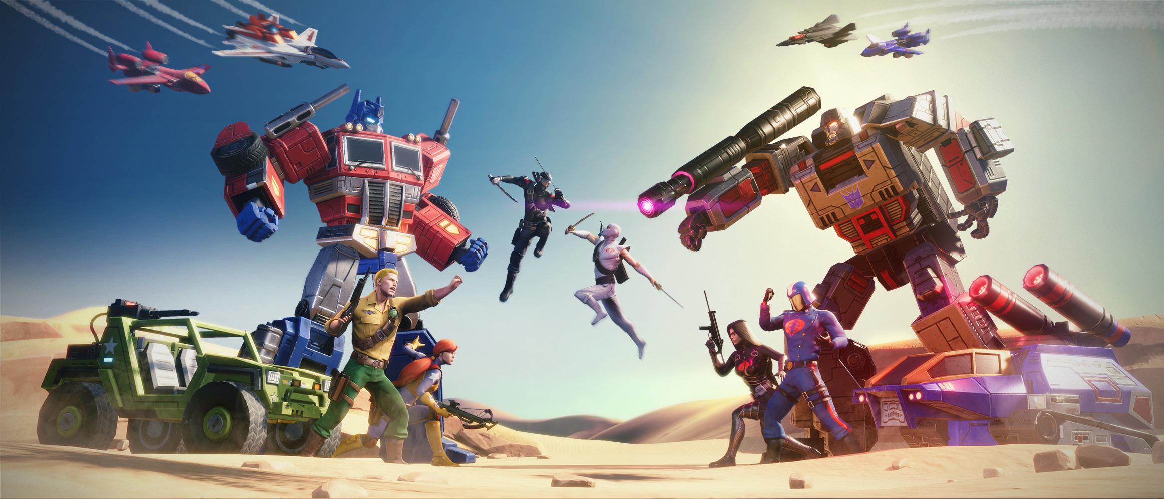 GIJoe vs Transformers in Transformers Earth Wars Game 2324x996