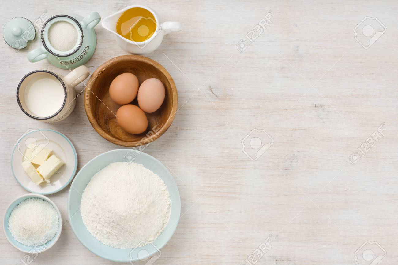 Baking Ingredients Background Baking Concept Top View With 1300x867