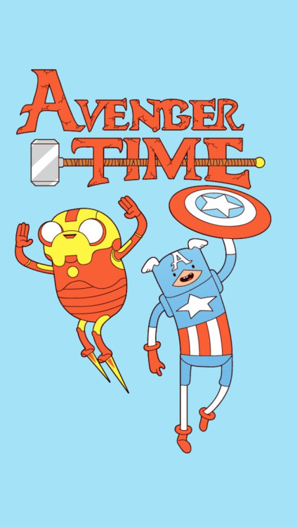 Finn And Jake Captain America Iron Man Wallpaper For IPhone 5 423x750
