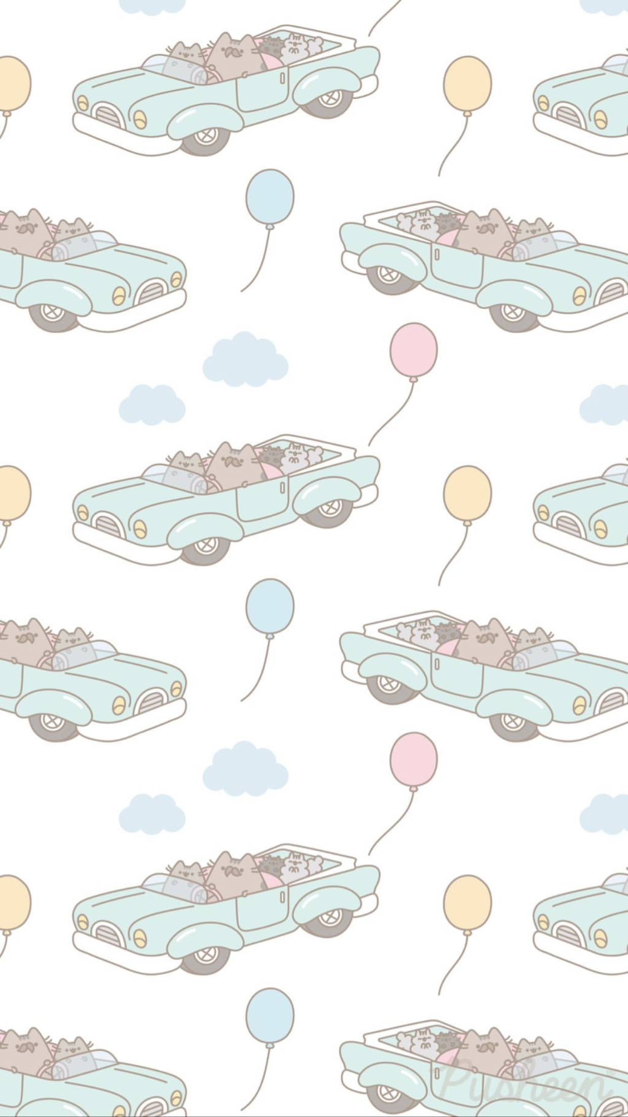 Pusheen the cat iphone wallpaper Fathers Day With images 1242x2208
