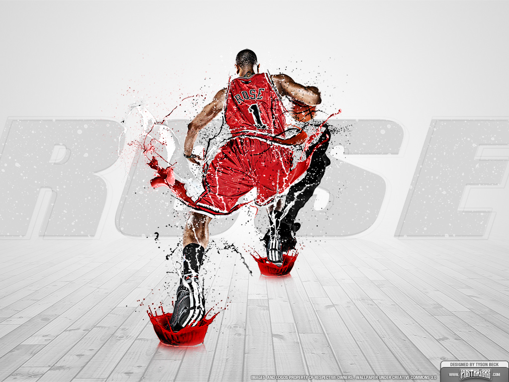 Derrick Rose Wallpaper Superstar Series Posterizes NBA 1024x768