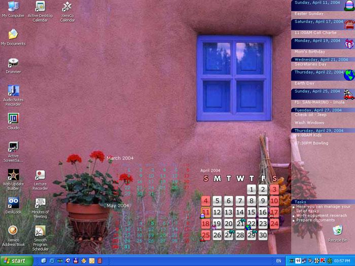 Desktop Calendar Windows Software blends data with desktop wallpaper 700x525