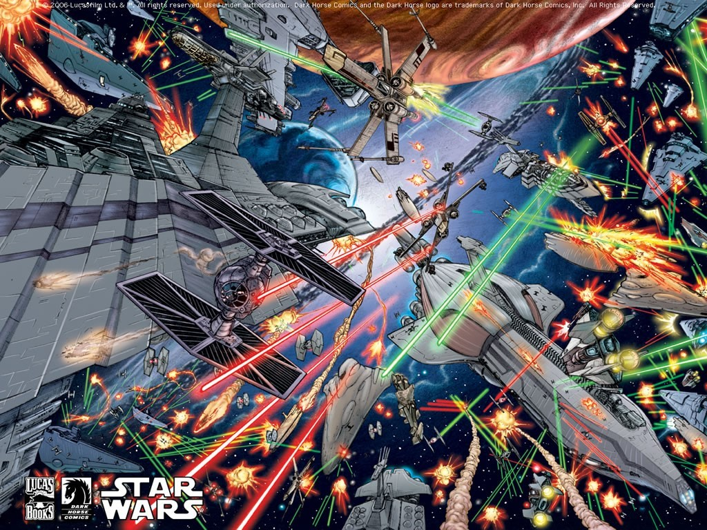 50 Star Wars Space Battle Wallpaper On Wallpapersafari