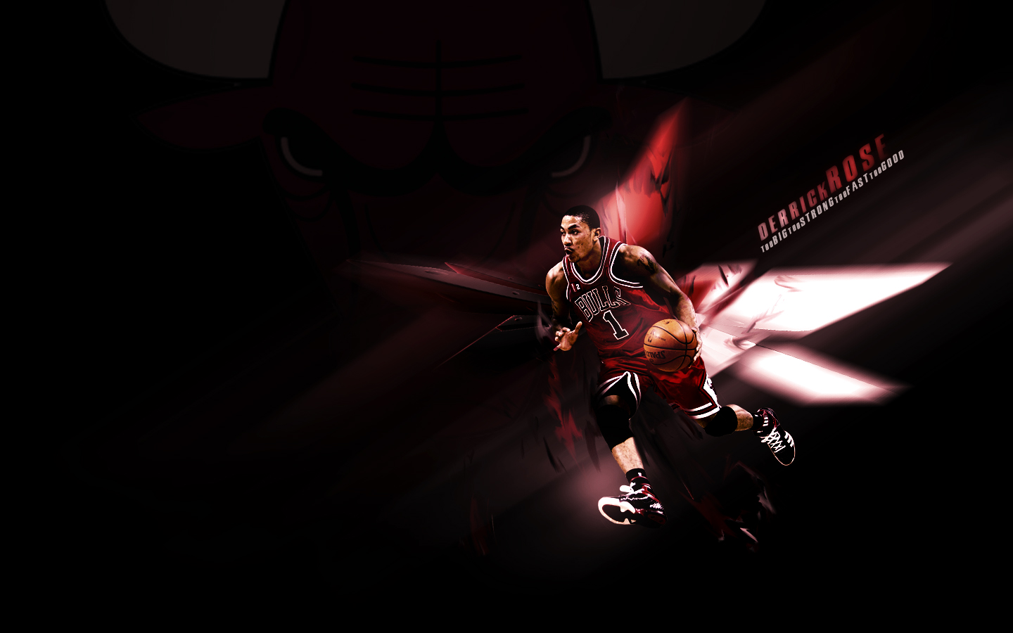 Derrick Rose Bulls Wallpaper by doubleG33 1440x900