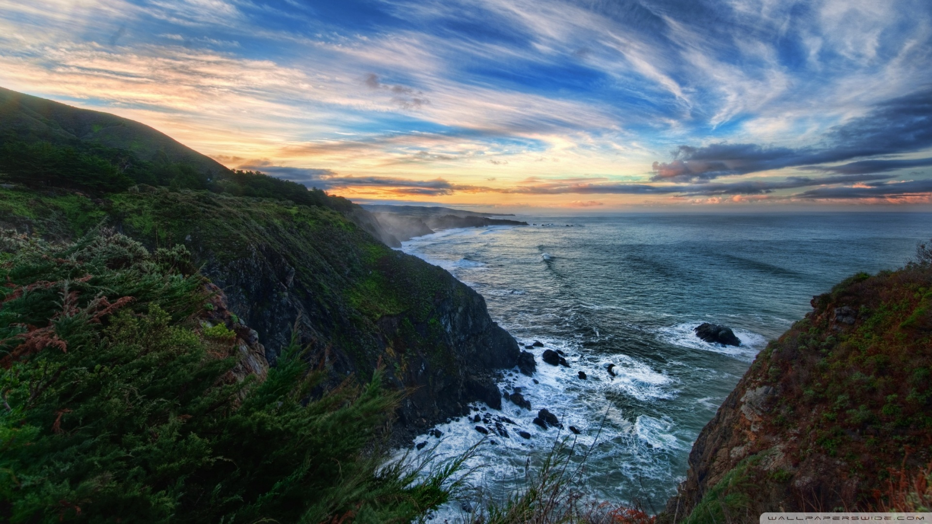 Download Spectacular Ocean View Wallpaper 1920x1080 ...