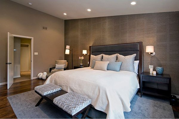 Trendy Bedrooms With Geometric Wallpaper Designs Home Design Lover 600x399