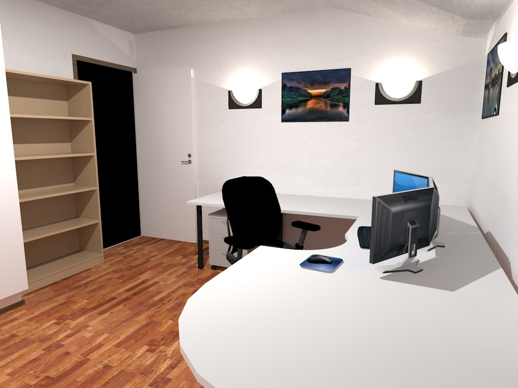 Empty office desktop wallpaper wallpapersafari for 3d office planner