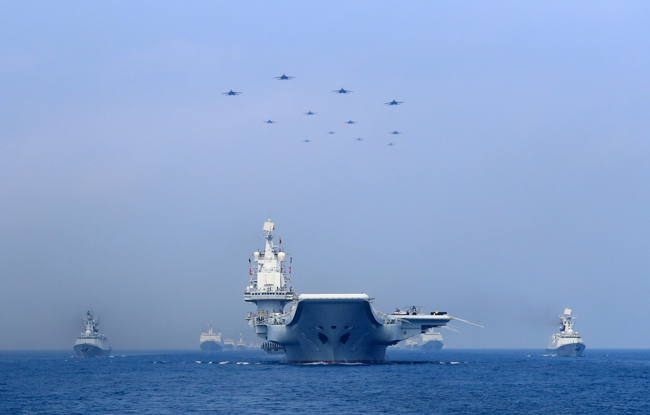 Wallpaper Wave Fighters Navy The carrier THE CHINESE NAVY 1332x850