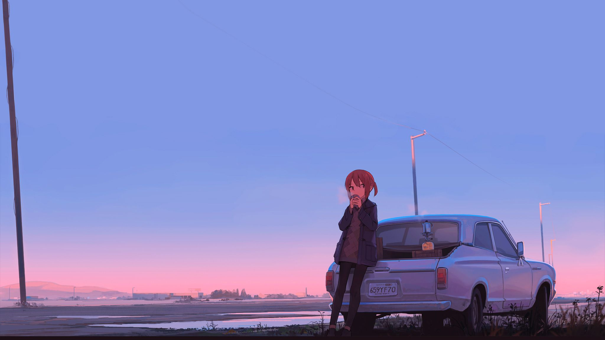 Car Anime Wallpapers   Top Car Anime Backgrounds 2048x1152