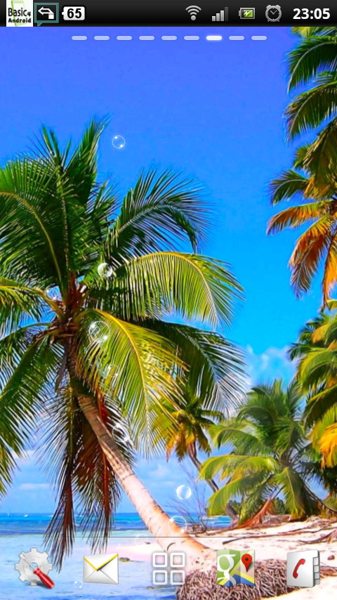 Download Caribbean Beach Shore Live Wallpaper for your Android 480x854