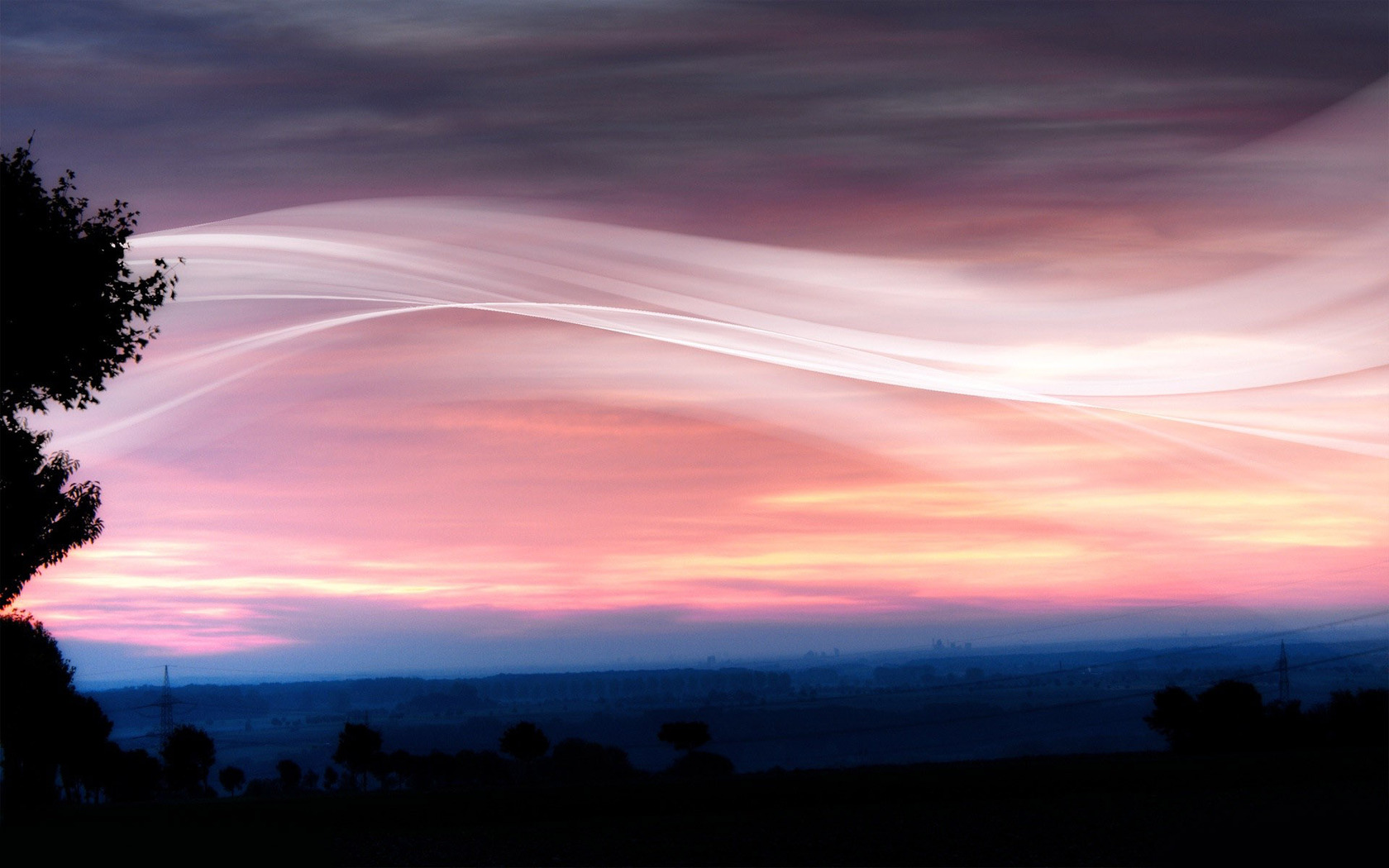 Pink sunset wallpaper 11326 1680x1050