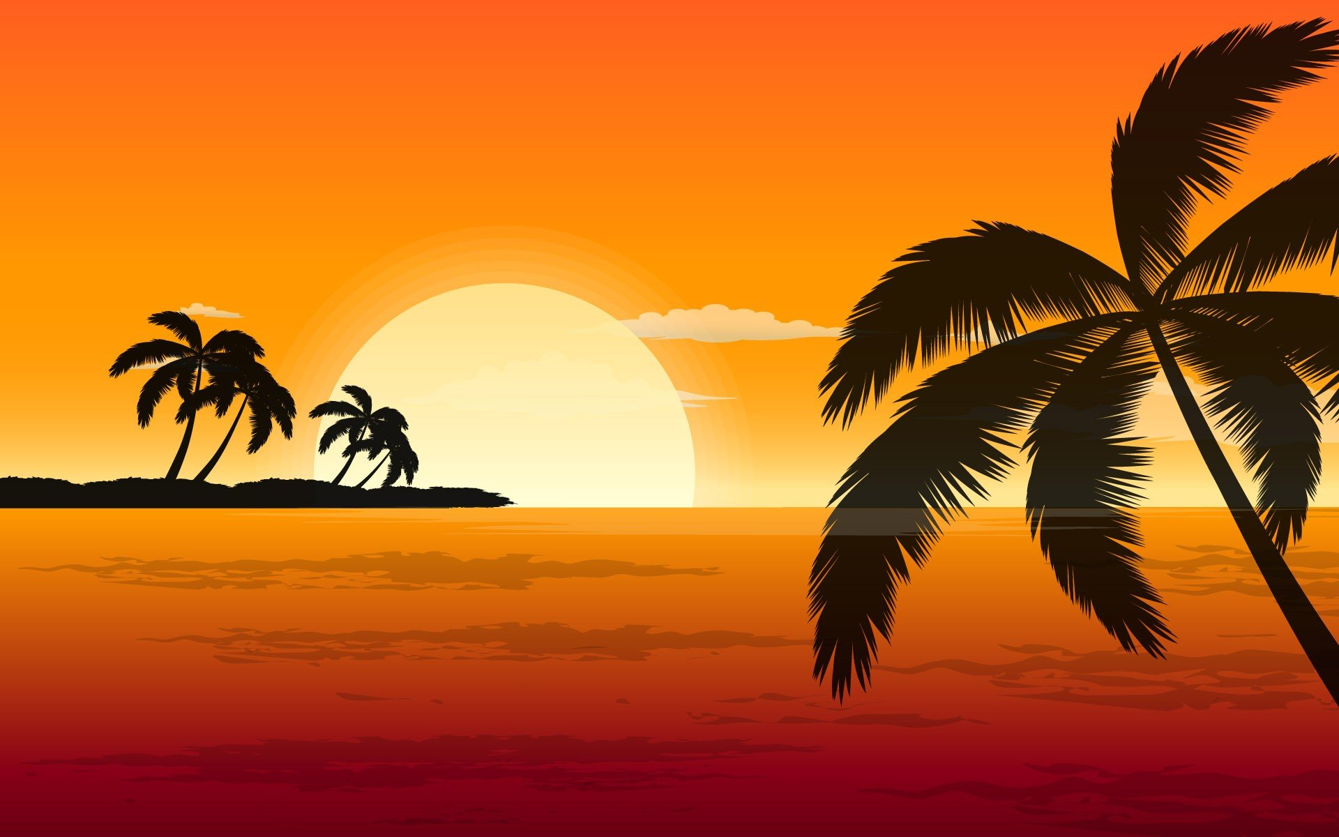 palm trees sunset wallpapers palm trees sunset wallpapers palm trees 1920x1200