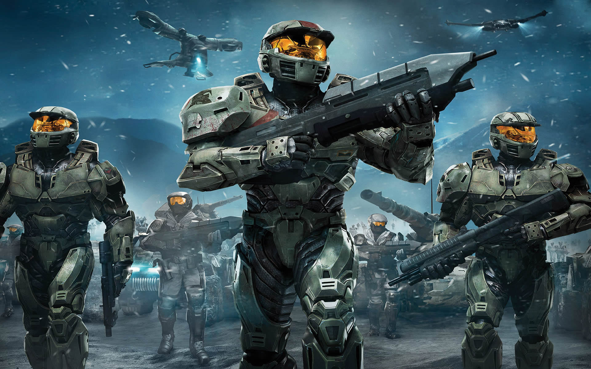Space Command   Action Games Wallpaper Image featuring Halo Wars 1920x1200