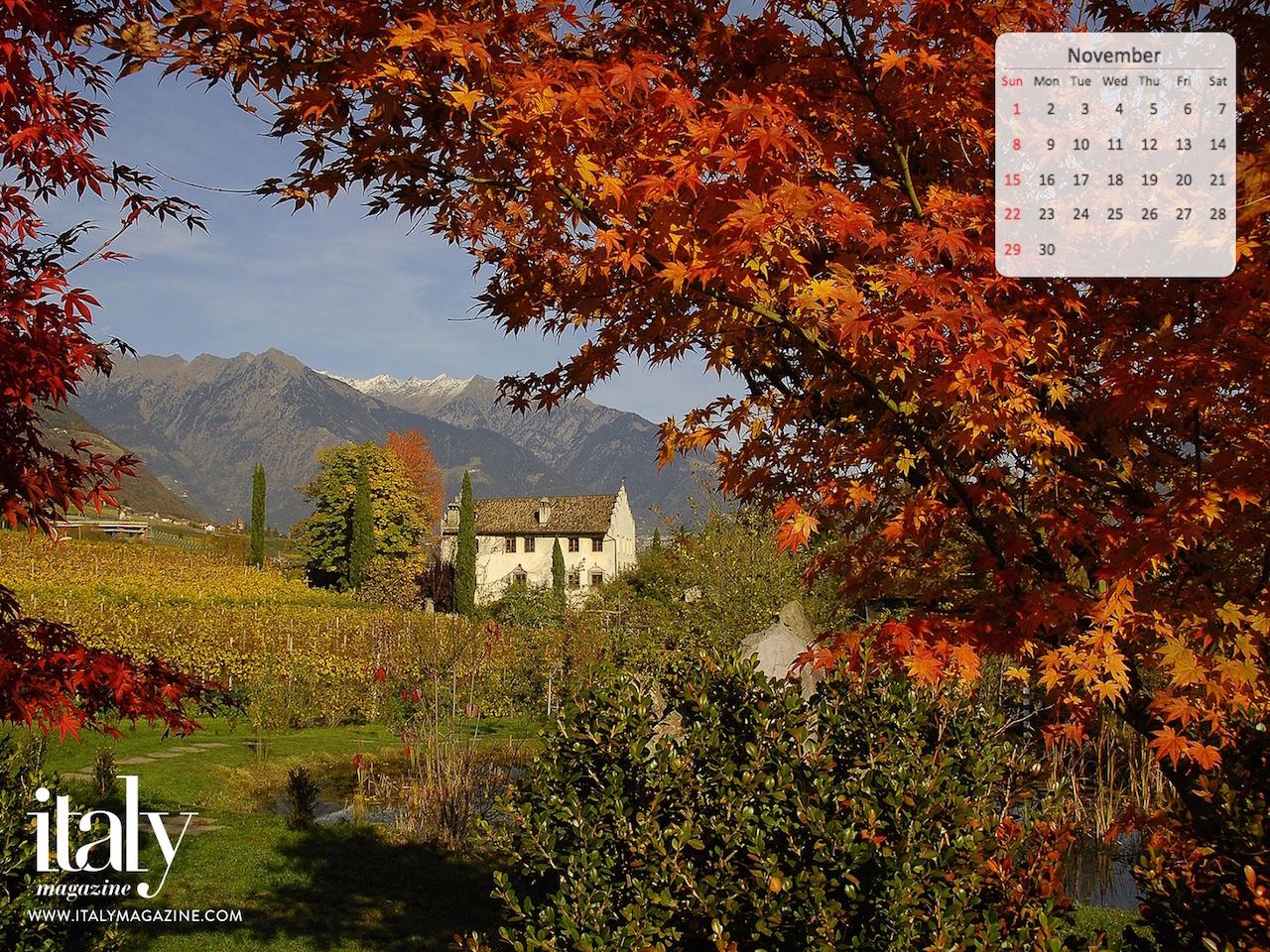 Wallpaper Calendar - November 2015 | ITALY Magazine