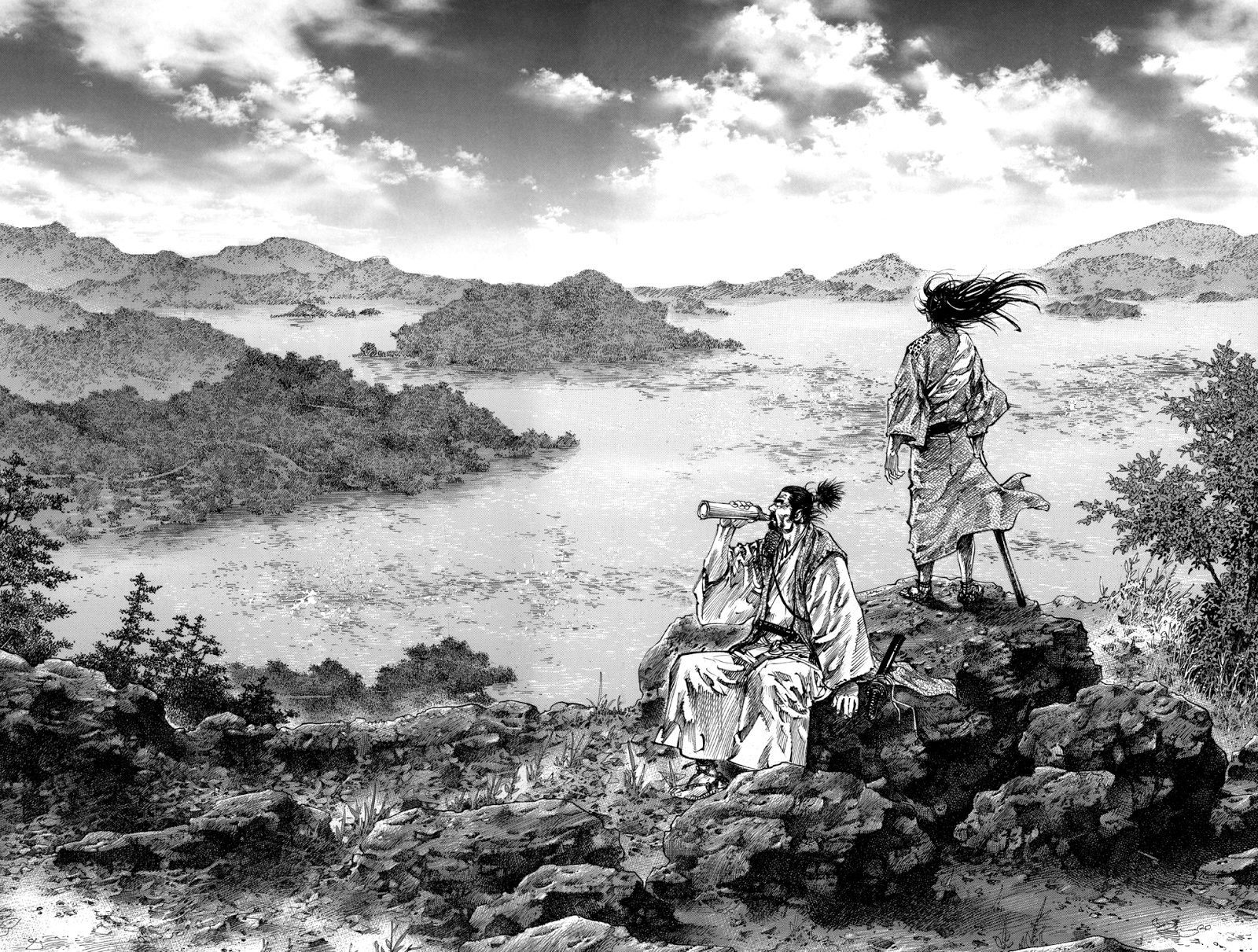 Cool Vagabond Landscape anime wallpaper 1600x1211