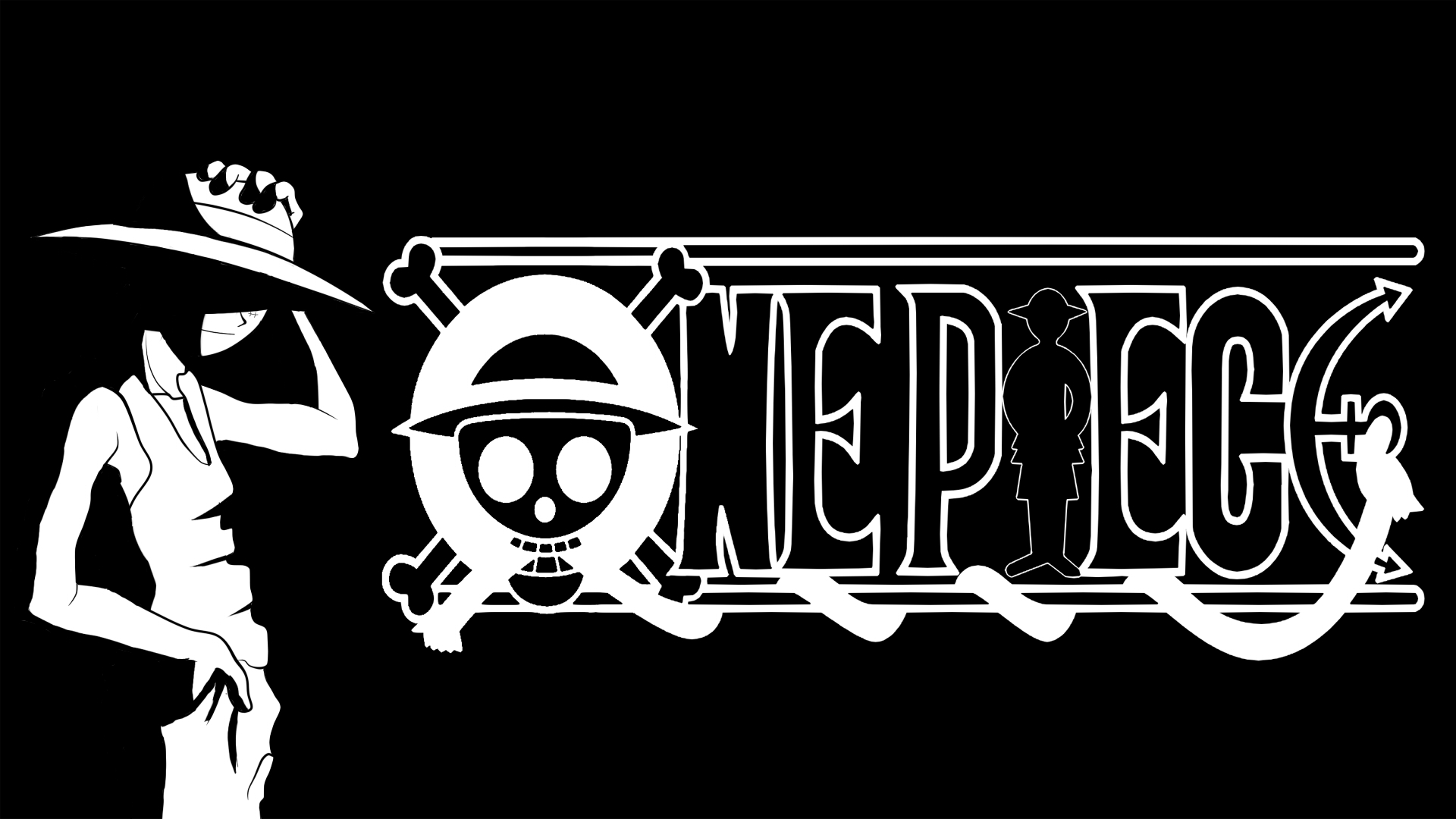 One Piece Logo Wallpaper - WallpaperSafari