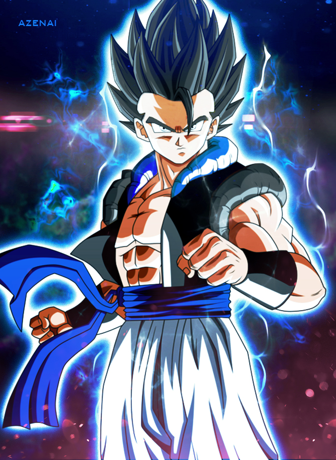Gogeta Ultra Instinct by Azenai 670x918