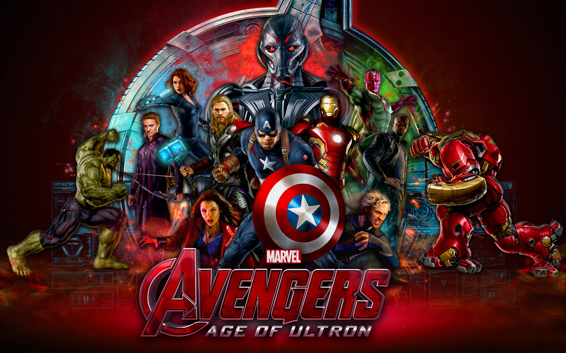 Marvel Studios Avengers Age Of Ultron 2015 Desktop Wallpaper Hd 1920x1200