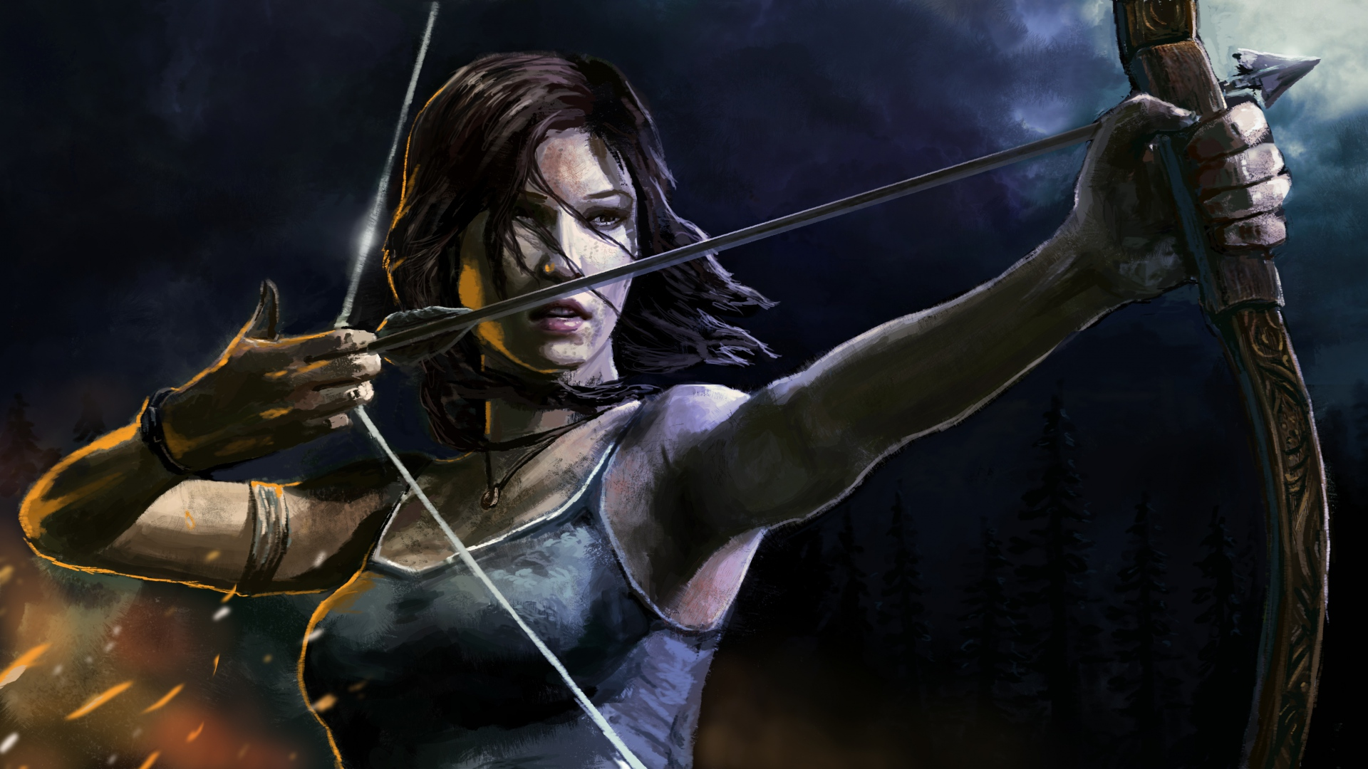 bow and arrow wallpaper 1920x1080