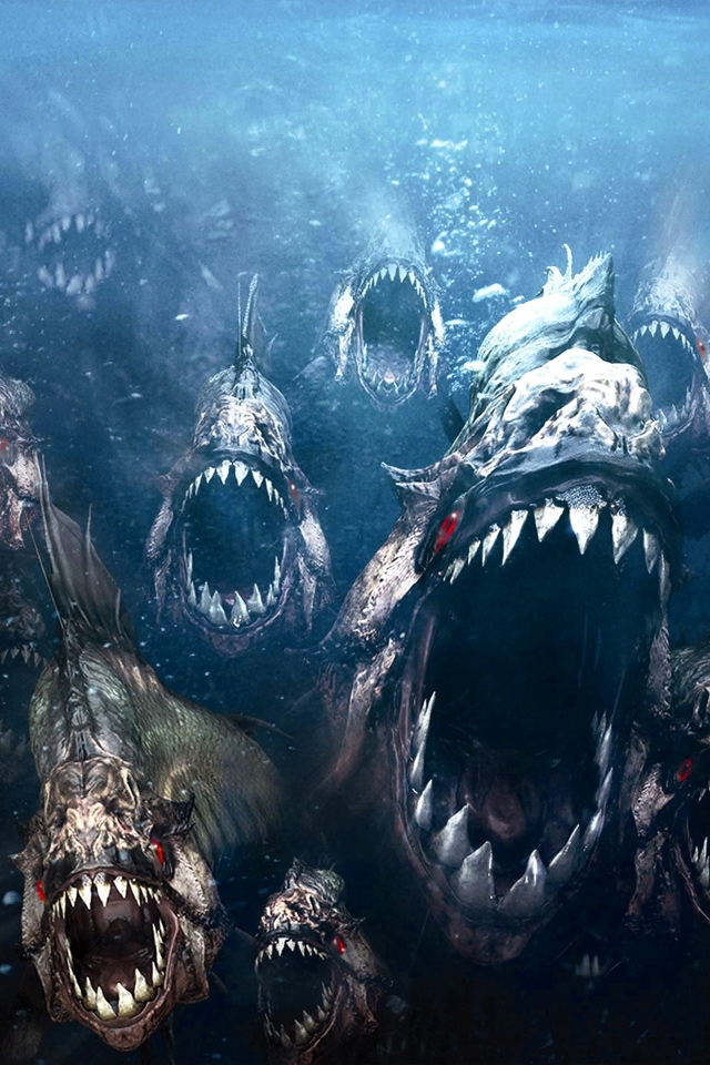 Download Piranha 3D iPhone HD Wallpaper iPhone Wallpaper 640x960
