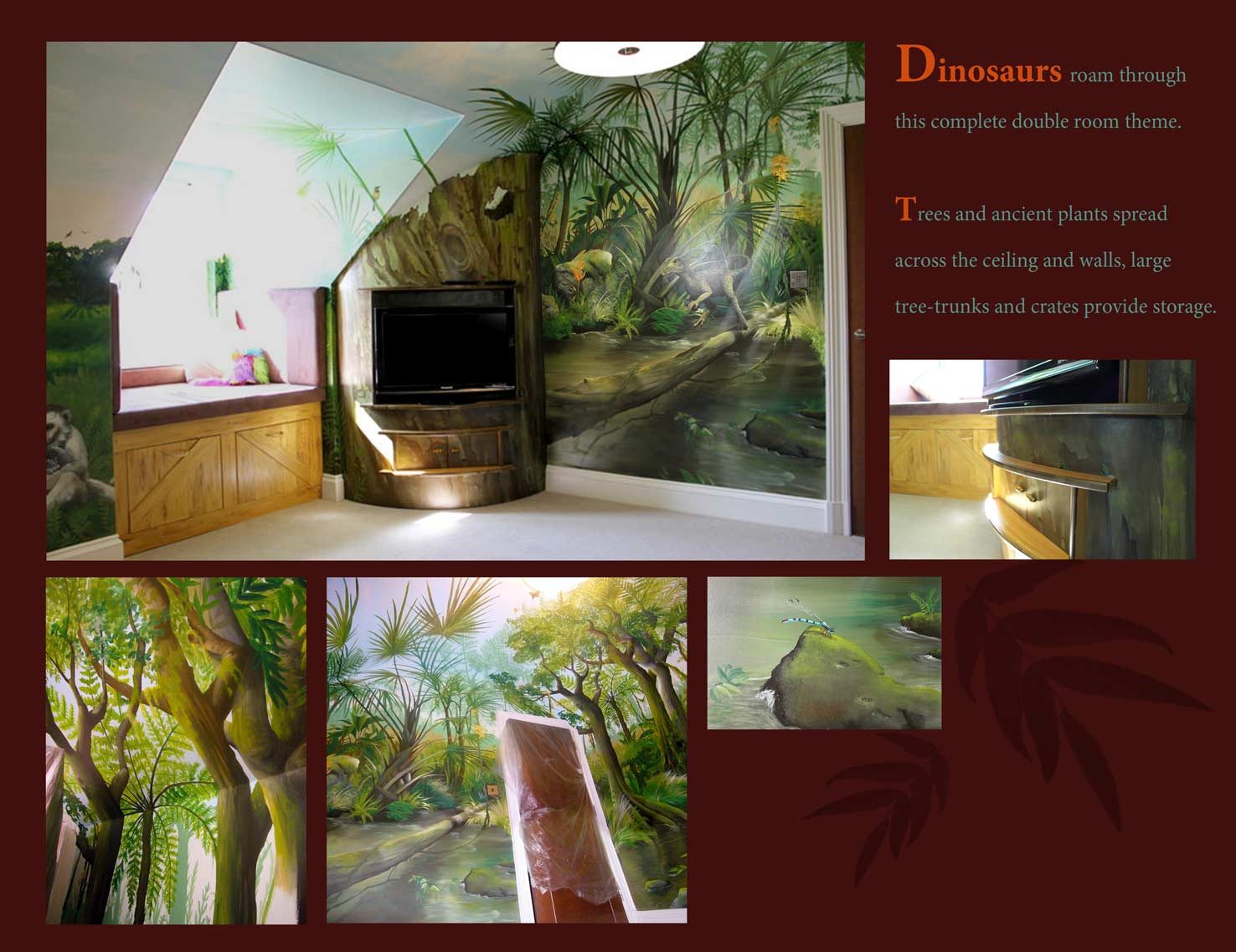 Dinosaurs Murals Walls Wall Designs