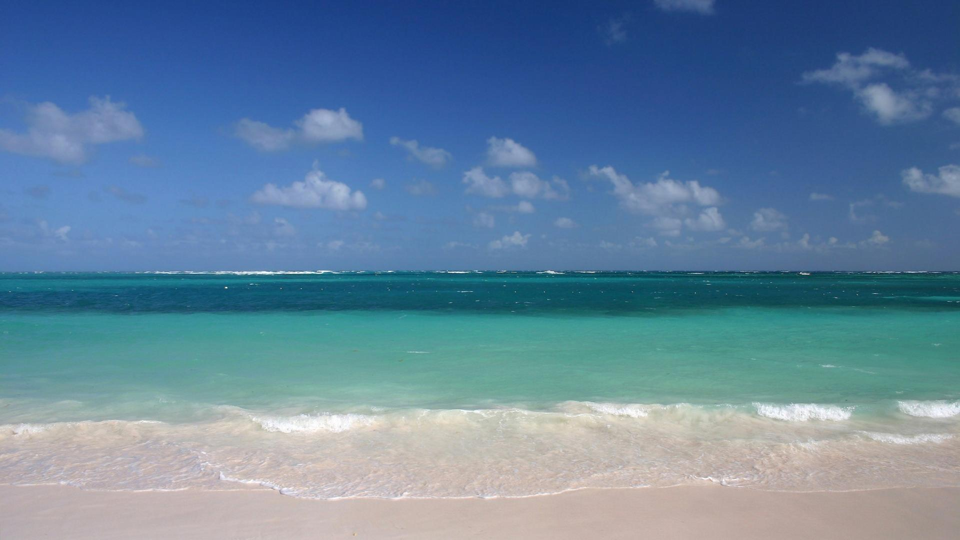 nature ocean sands water beach sky 1920x1080