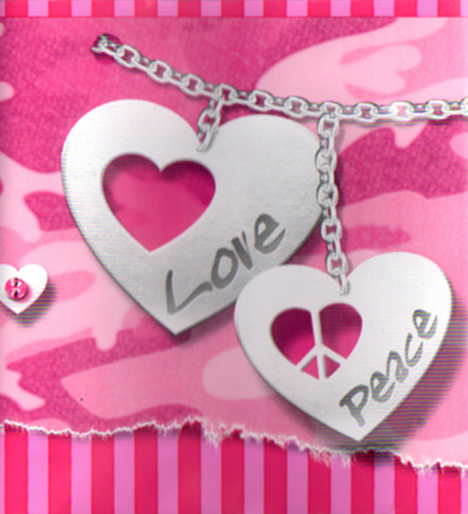 Glam Cam Pink Camo Heart Bracelet Jewel Love Peace Friend Girl Wall 911x1000