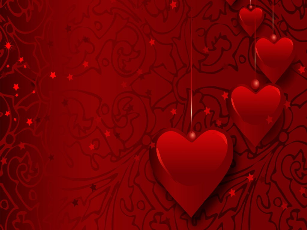 Valentine Wallpapers Flying Heart Wallpapers Download 1024x768
