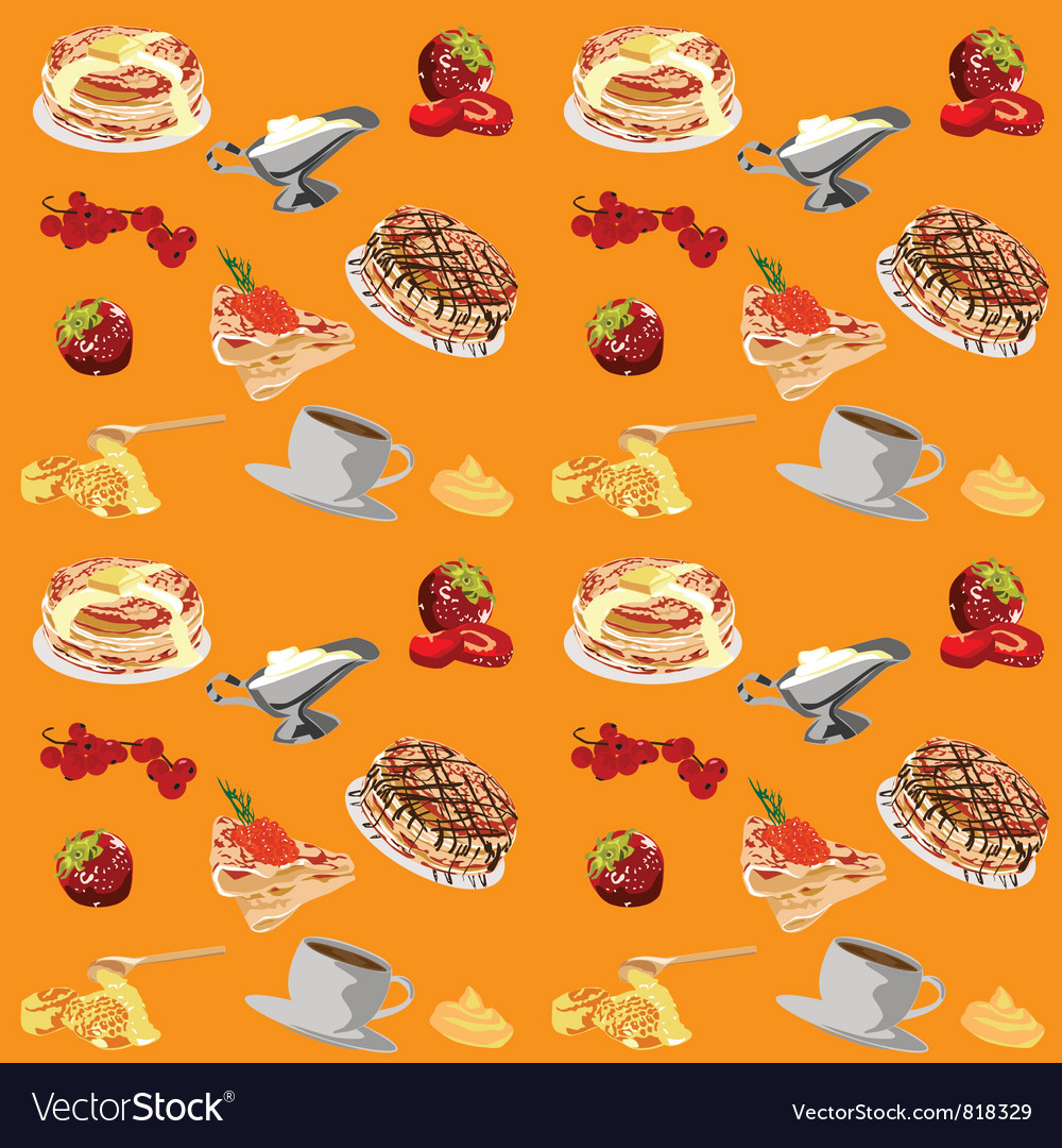 Background with pancakes Royalty Vector Image 1000x1080