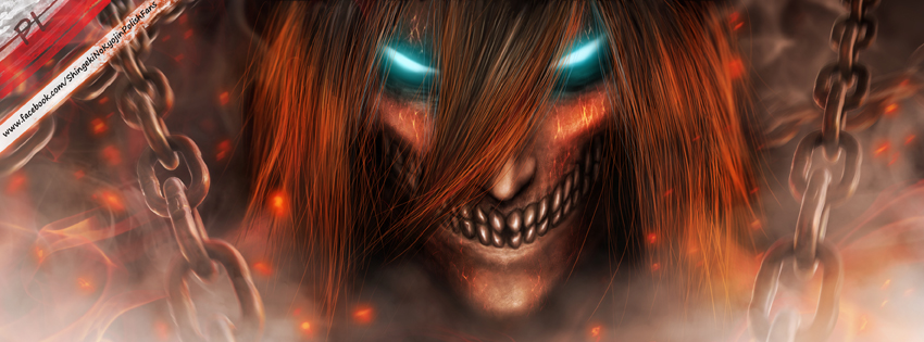 AoT facebook cover Titan Eren by AnetaChalimoniuk 850x315