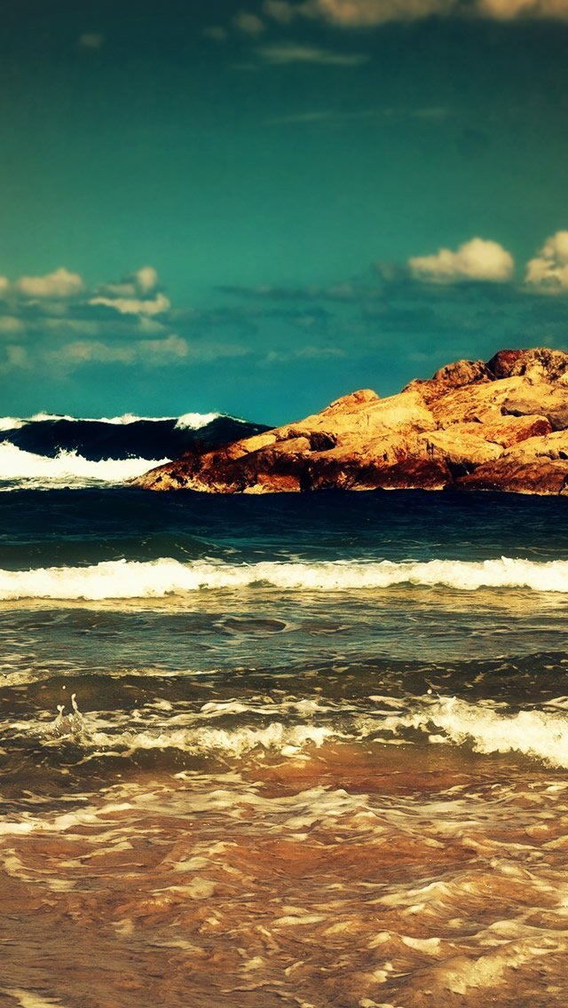 Ocean Waves iPhone 5s Wallpaper Download iPhone Wallpapers iPad 640x1136