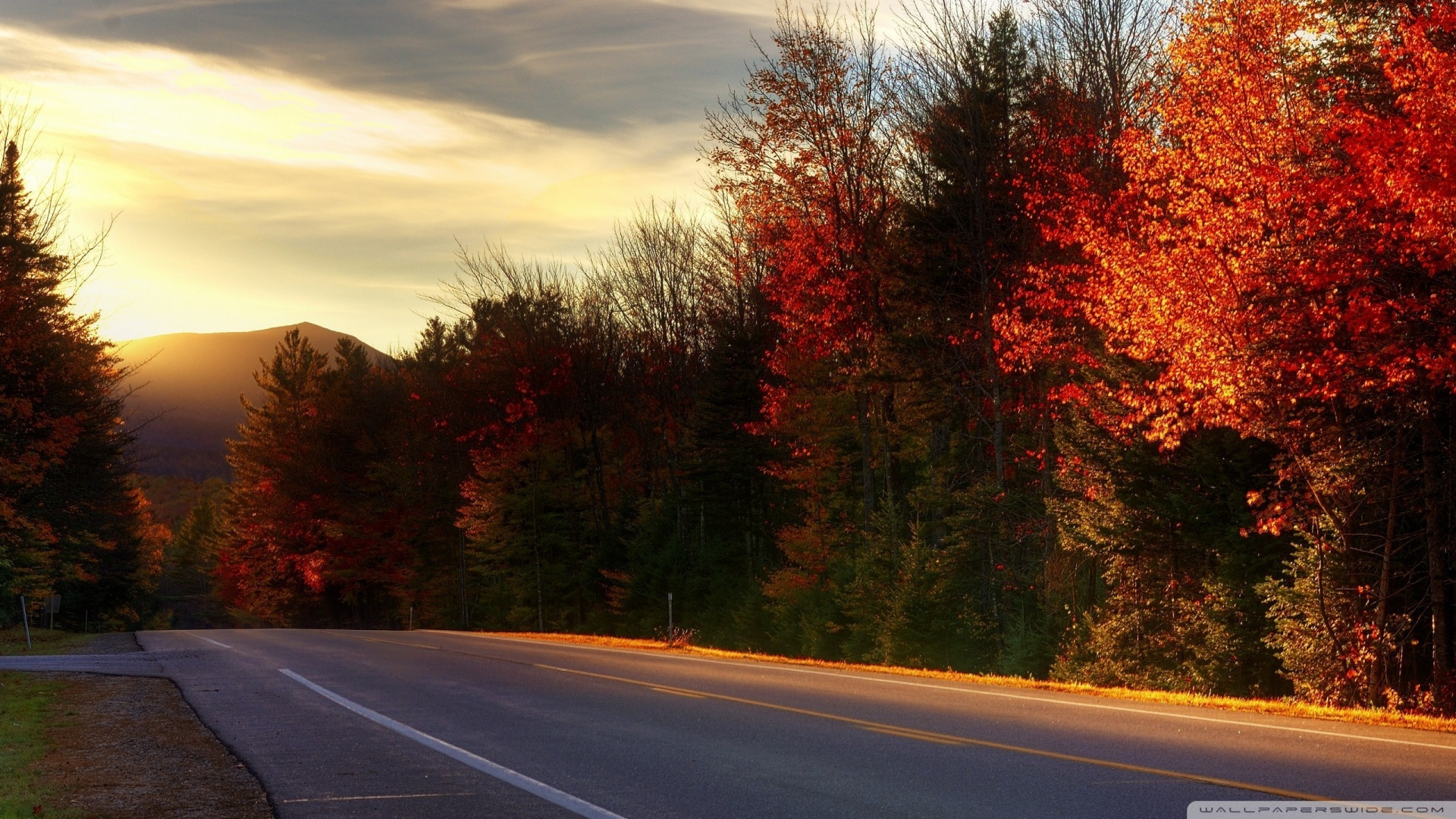 Road In New Hampshire 4K HD Desktop Wallpaper for 4K Ultra HD 1920x1080