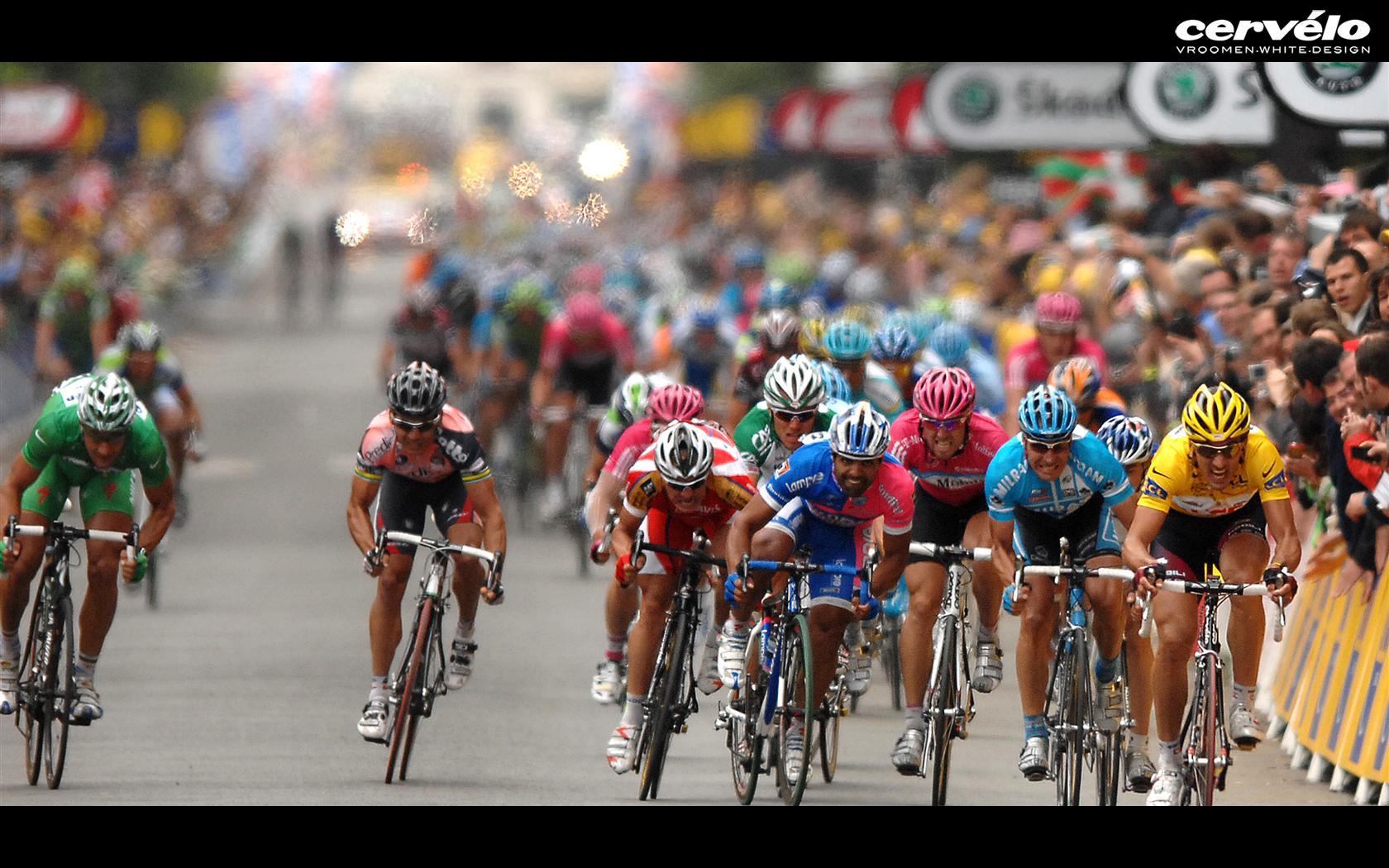 widescreen wallpaper Tour de France 1680x1050