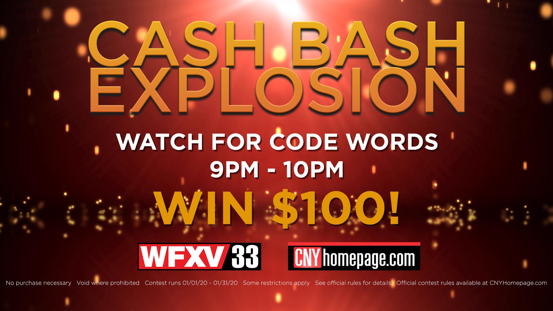 2020 Cash Bash Contest WUTRWFXV   CNYhomepagecom 1920x1080