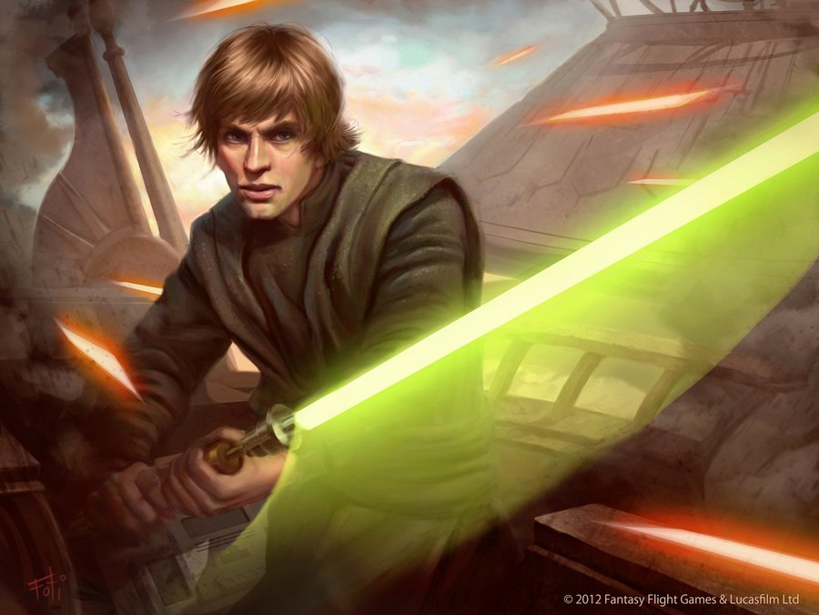 Star Wars TCG   Luke Skywalker by AnthonyFoti 900x676