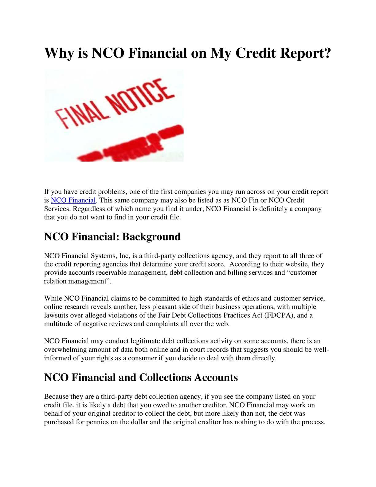 Calamo   Why is NCO Financial on My Credit Report 1224x1584