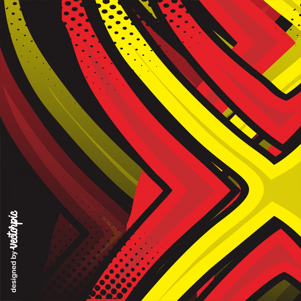 racing stripes abstract line red yellow background vector 1280x1280