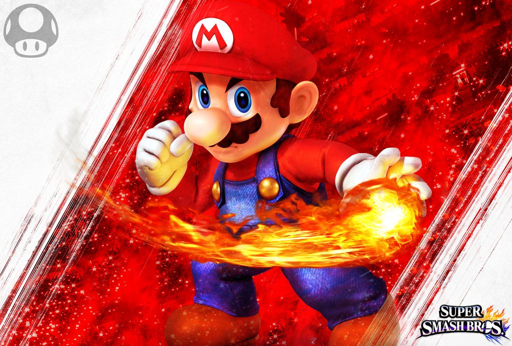 Mario SSB4 Custom Wallpaper