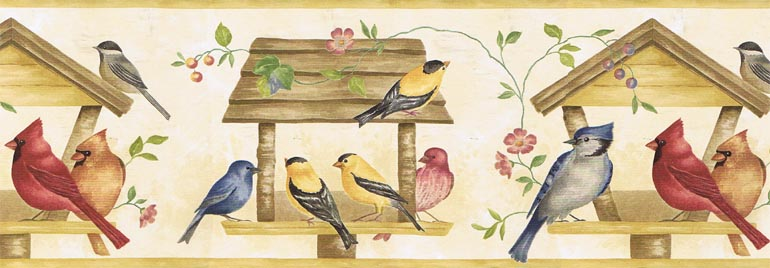 Details about KITCHEN BIRDS BIRD SEED Wallpaper Border KC322 770x268