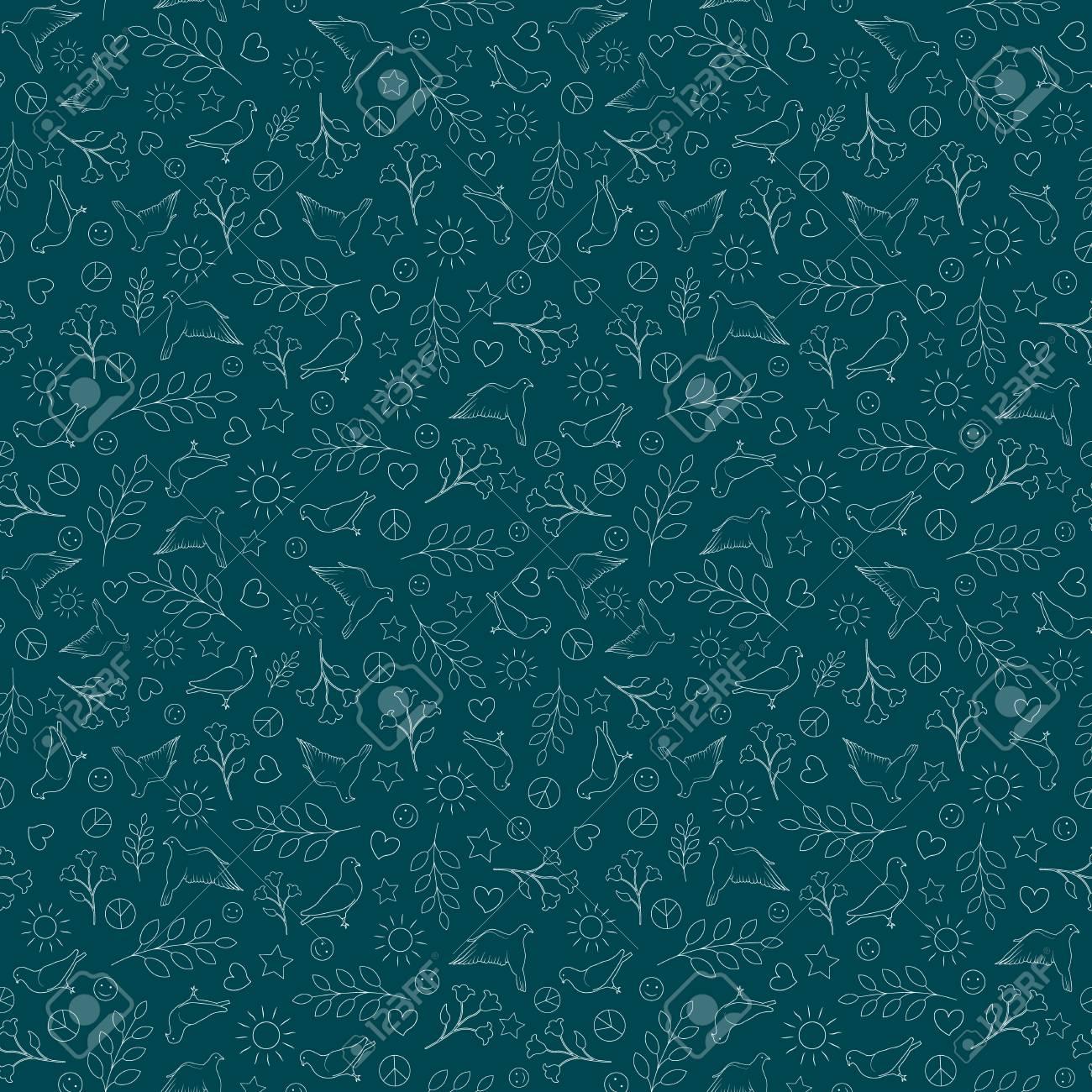 International Day Of Peace Seamless Pattern Background Peace 1300x1300