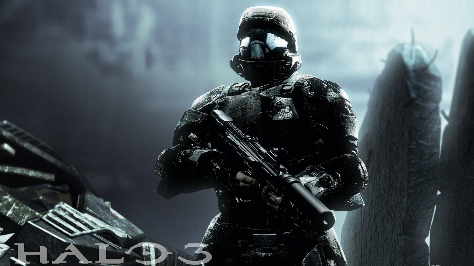 odst wallpaper background bungie xbox 360 microsoft fps first person 1600x900