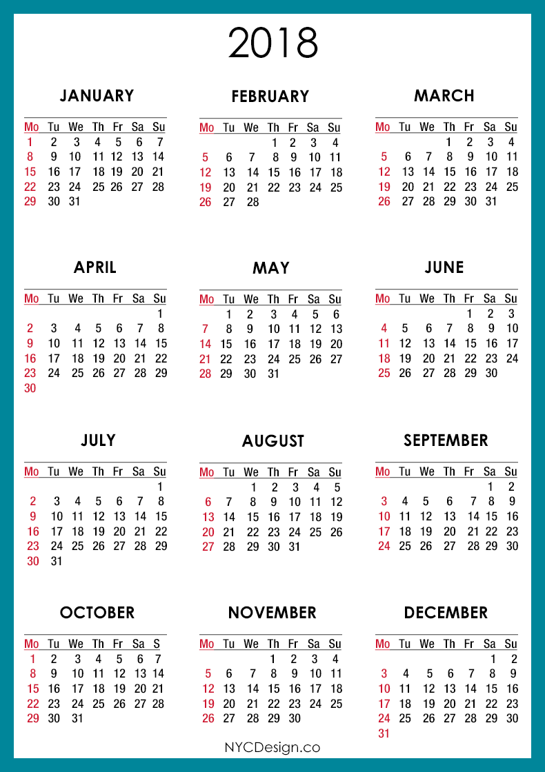 Calendar 2018 Templates and Images Work Wallpaper 790x1120
