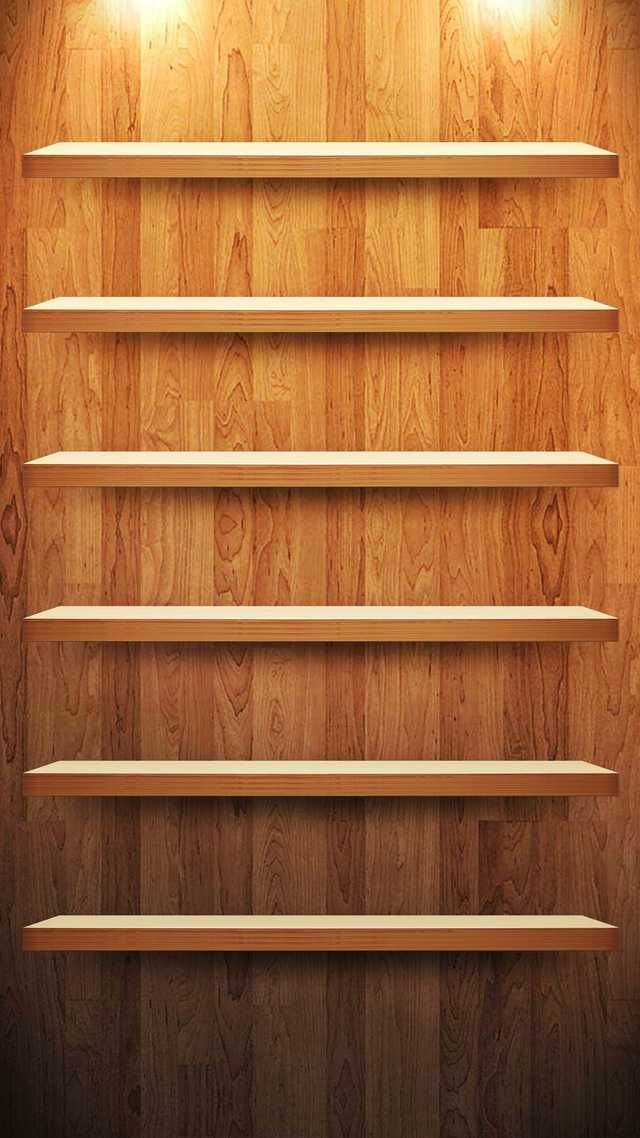 10 Creative Shelves Wallpapers for the iPhone 6 Plus 640x1138