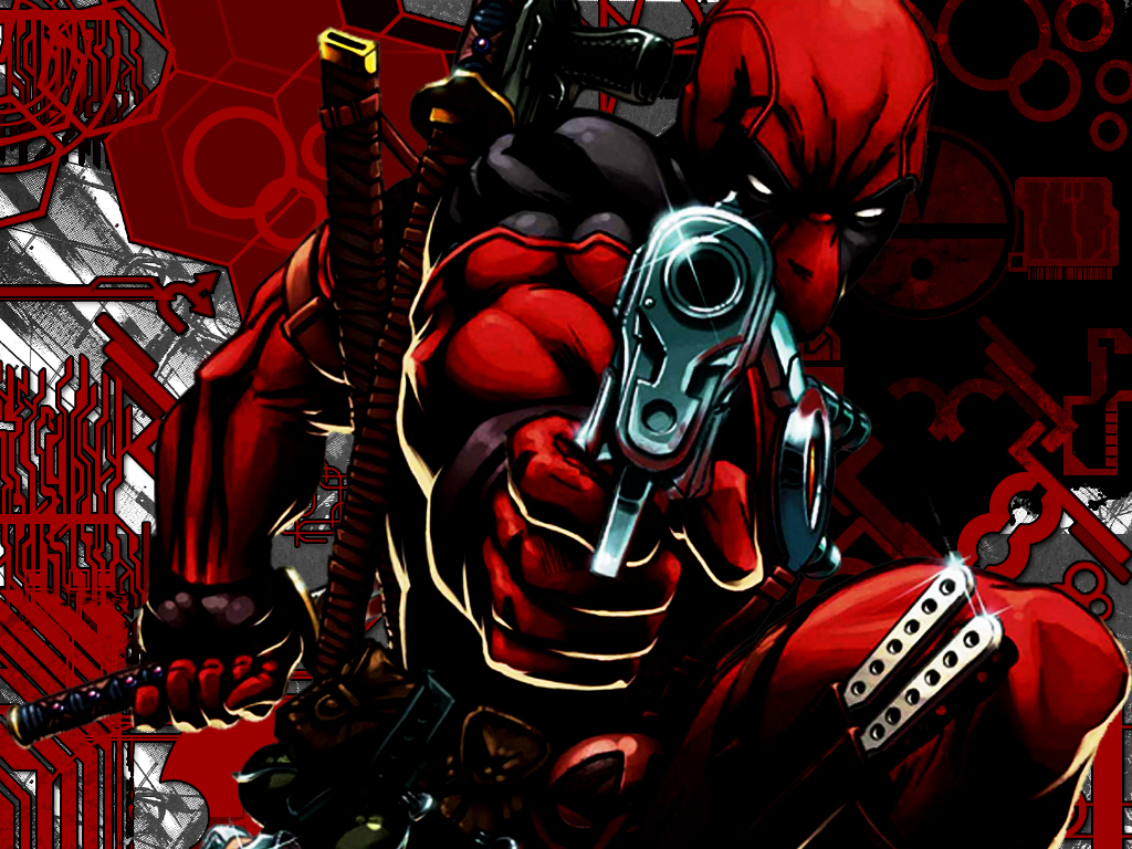 Guns Deadpool Wallpaper 1024x768 Guns Deadpool Wade Wilson Marvel 1024x768