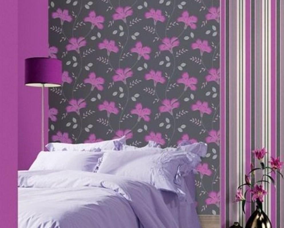 wwwpurple777com20140309beautiful purple wallpaper for bedroom 993x796