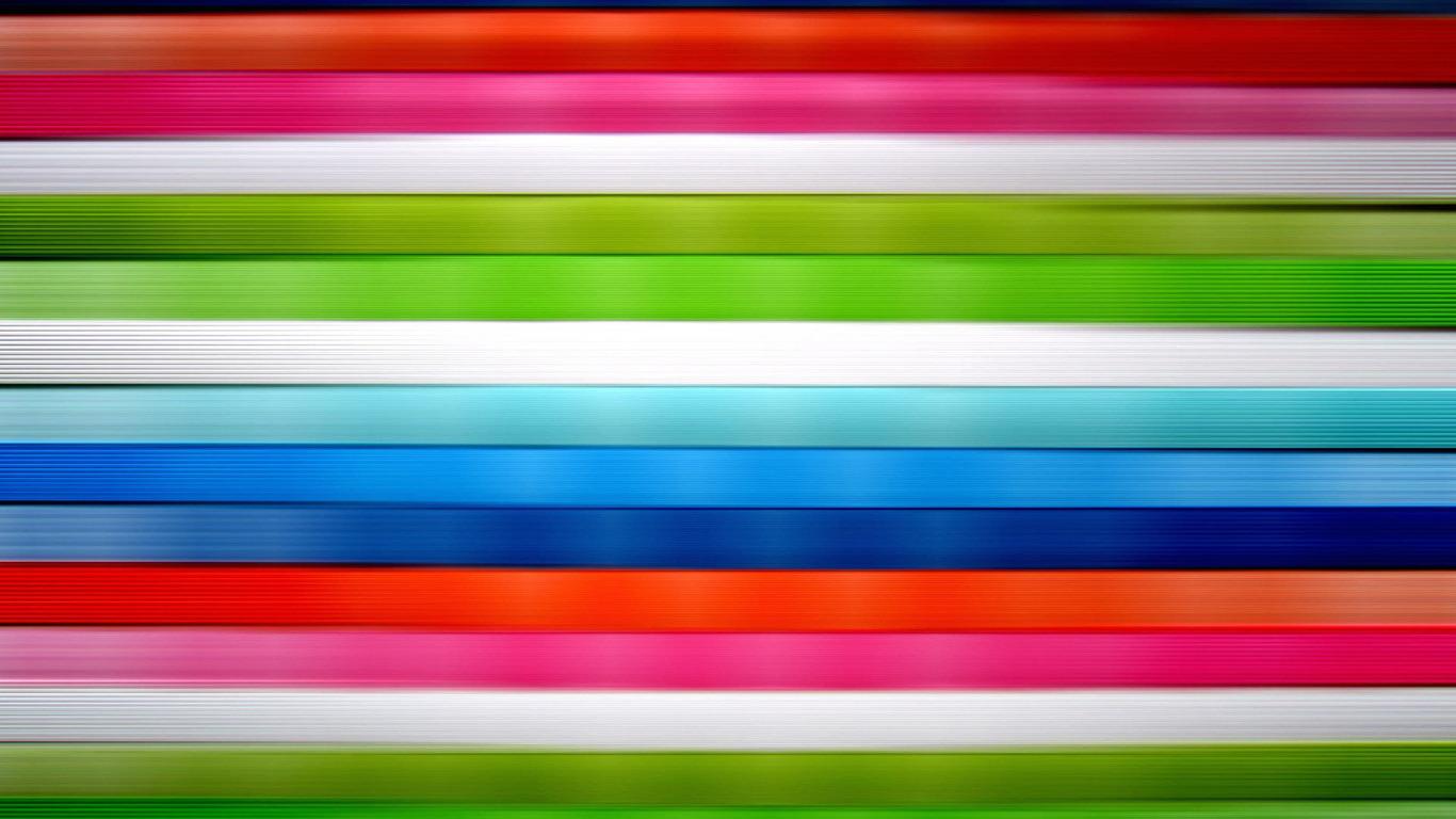 Horizontal vivid colored stripes wallpaper 201 1366x768