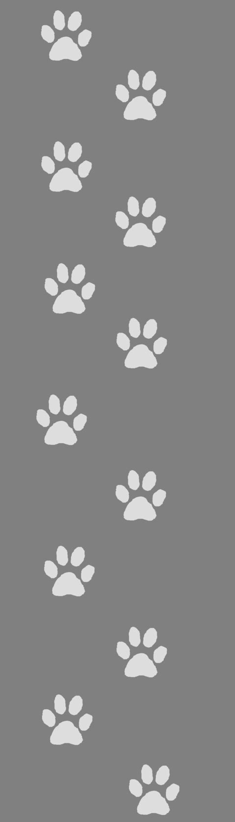 Grey Dog paw print Custom box background by Kawaii 0kami 478x1673
