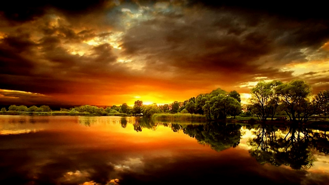 Most Spectacular Sunset Wallpapers Unique Wallpaper 1366x768